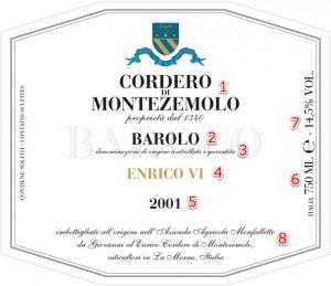 Cordero_Barolo_EnricoVI_label