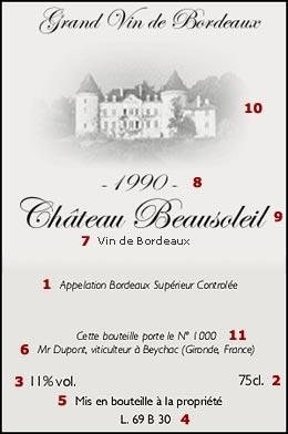 Etykieta Bordeaux