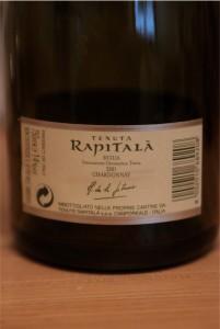 Rapitala Chardonnay kontr-etykieta