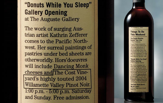 "Cost Vineyards ""Donuts While You Sleep"""
