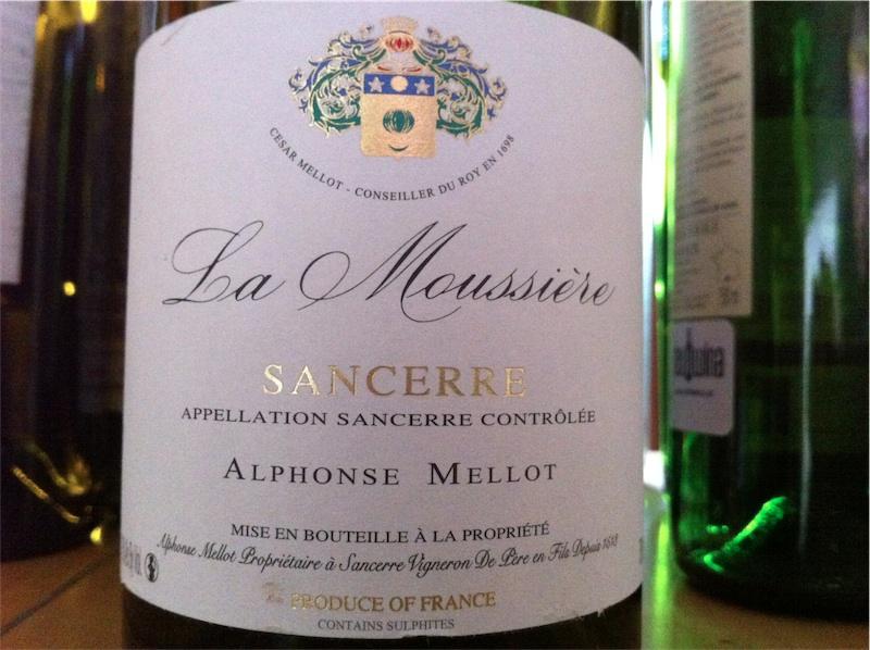 1. Alphonse Mellot, La Moussière, AOC Sancerre, 2009, 13%