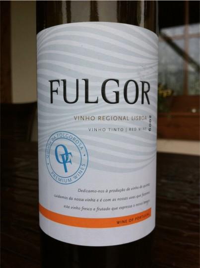 Fulgor Vinho Regional Lisboa 2009 czerwone