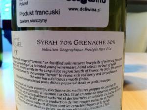 Laurent Miquel, IGP d'Oc, 2009, 13,5% (kupaż: Syrah 70%, Greneache 30%).