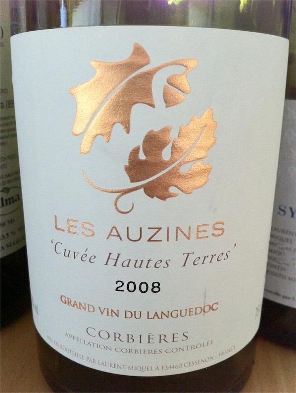 """Les Auzines, """"Cuvée Hautes Terres"""", AOC Corbières, 2008, 13,5%"""