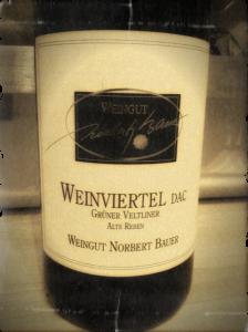 Weingut Norbert Bauer Gruner Veltliner 2009 Alte Reben, Weinviertel DAC, Austria