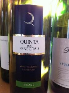 Quinta de Penegrais, Vinho Regional Ribatejano, 2007, 12,5% (białe, kupaż Fernão Pires i Trincadeira das Pratas).