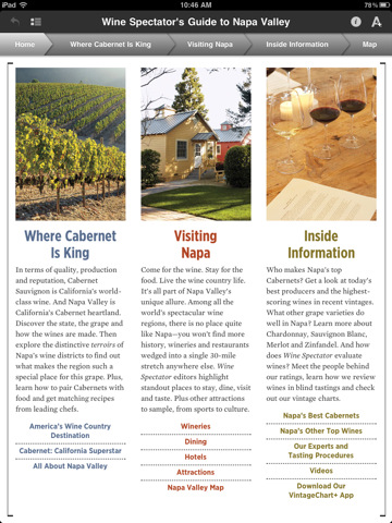 Wine Spectator iPad app