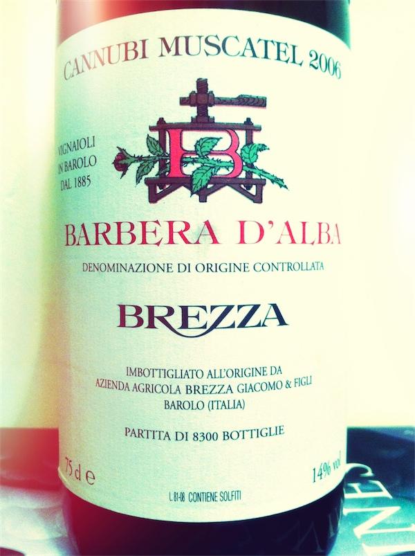 Brezza DOC Barbera d'Alba 2006 Cannubi Muscatel