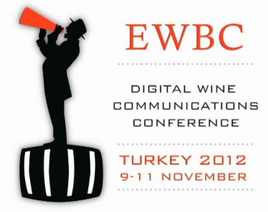 European Wine Bloggers Conference logo Digital wine communication conference Turkey 2012