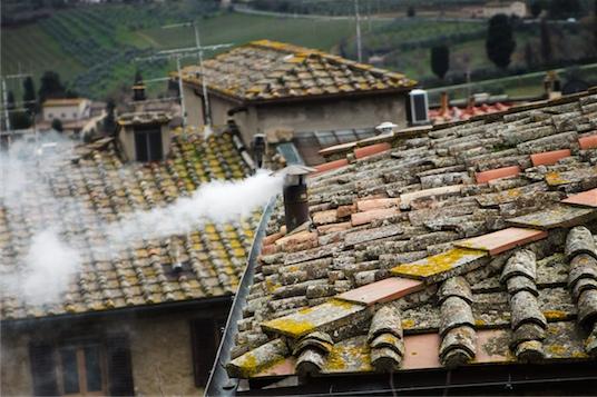 San Gimignano - dym