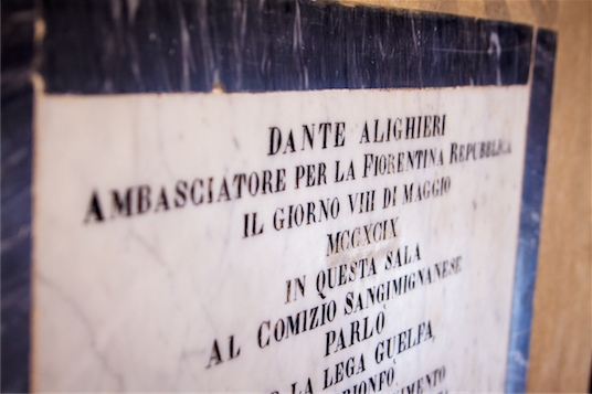 San Gimignano - sala Dantego
