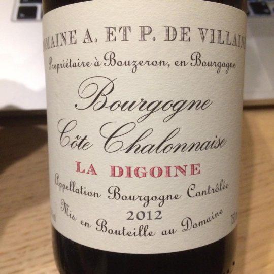 Domaine de Villaine La Digoine 2012 Bourgogne Côte Chalonnaise