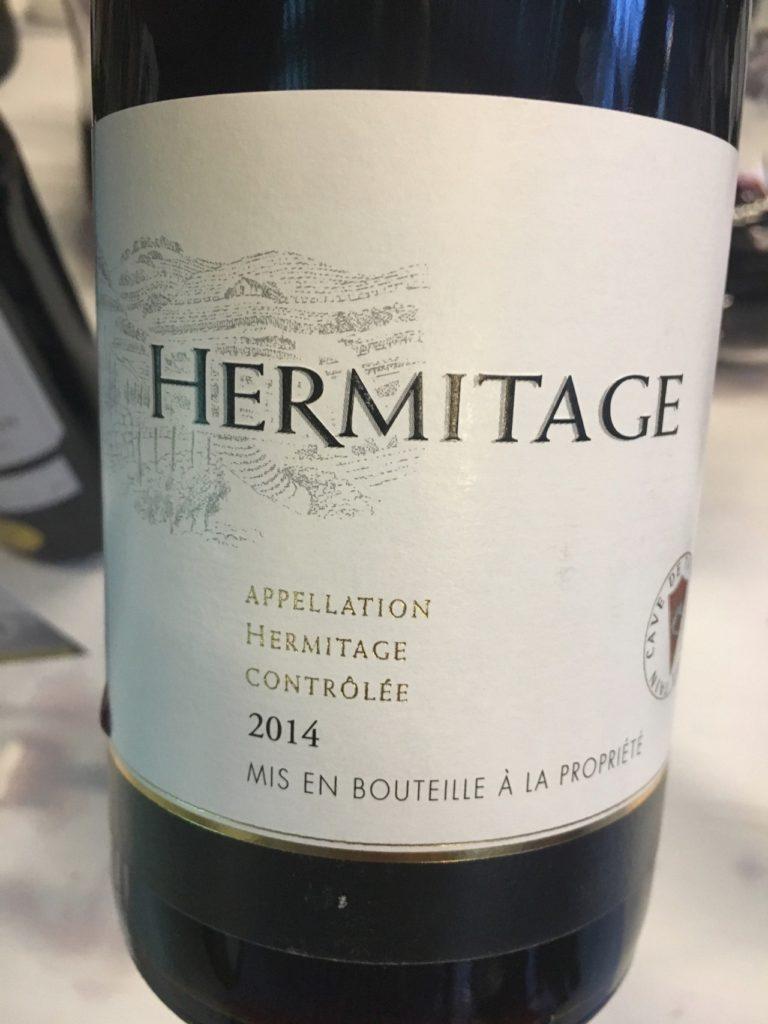 Hermitage 2014, AOC Hermitage