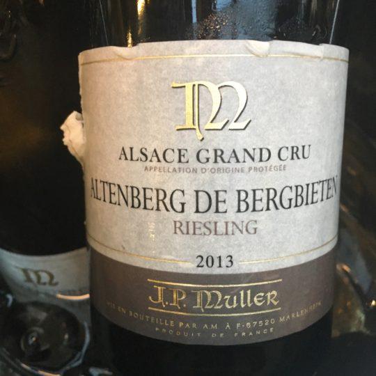J.P.Muller, Riesling 2013 – Grand Cru Altenberg de Bergbieten, AOP Alsace Grand Cru