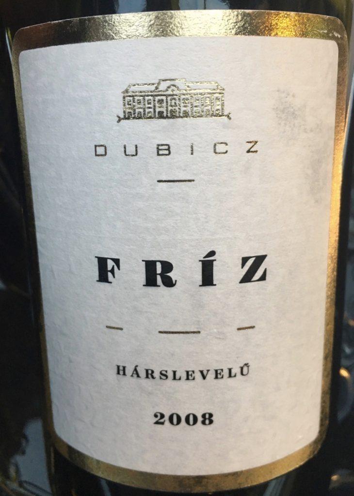 "Mátrai Hárslevelű ""Friz"", Dubicz 2008"