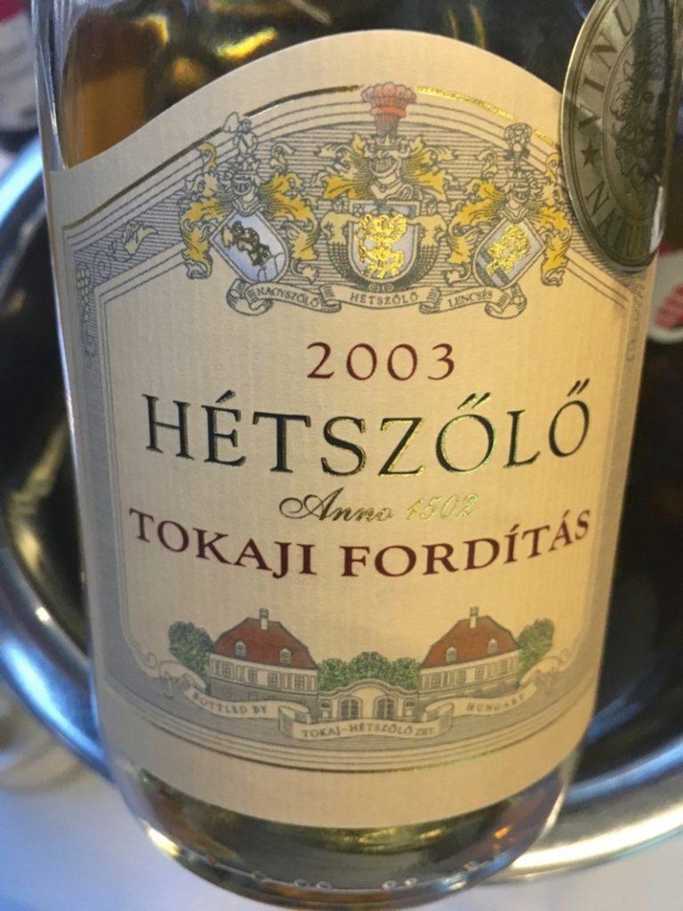 Tokaji Fordítás, Hétszőlő 2003