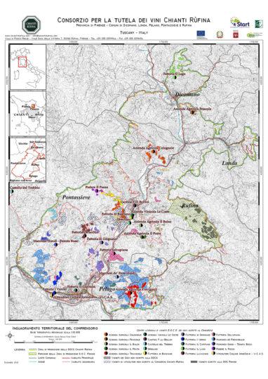 Chianti Rufina DOCG - mapa